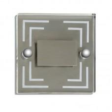 "Sienā iebūvējams gaismeklis ""STAIRS"" 1 x 0,6W LED modulis, alumīnijs, 7134-611"