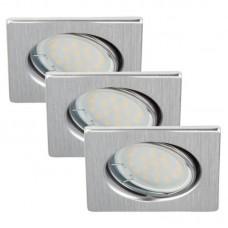 "Iebūvējams gaismeklis ""ATTACH"" 1 x 3W LED/GU10, 3-PAKA, 7213-032"