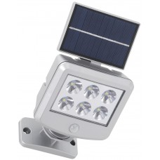 LED 3W flood light with solar panel and motion detector, 6500K, IP44, without wire - 2064-061