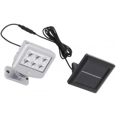 LED 3W flood light with solar panel and motion detector, 6500K, IP44, with wire - 2065-061