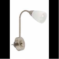 Reading lamp 1 x E14 max. 40W, IP20, matt nickel