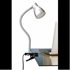 Clip-on lamp LED, 3.5W, IP20, titanium, white, Briloner, 2615-014P