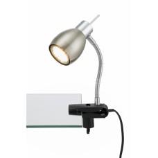 "Galda lampa ar skrūvspīli ""PINCH"" LED/GU10 3W, mat. niķelis - 2878-012P"