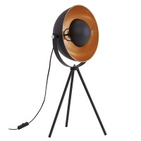 "Galda lampa ""SAND"" 1 x E27 max. 60W, melna un zelta - 7380-015"
