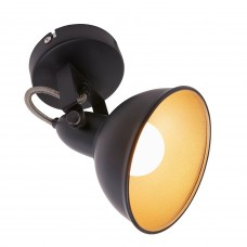 Spot gaismeklis melns ar zeltu, SOFT, 1x E14, max. 40W - 2049-015 - Briloner Prisma