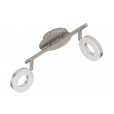 "Spotlampa ""CIRCLE"" 2 x 4W LED moduļi, IP20, mat.niķelis, 2749-022"