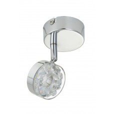"LED gaismeklis ""Ice"" 1 x 3.5W modulis, hroms - BRILONER - 2848-018"