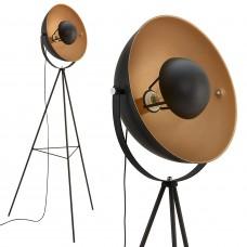 """Floor lamp """"SAND"""" 1 x E27 max. 60W, black and gold - 1380-015"""
