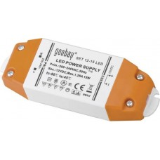 1.25A 12V IP20 LED power supply 15W DC, plastic, Goobay