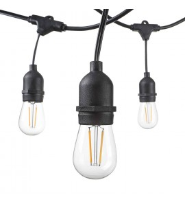 15m long - waterproof light string, IP65, 15x E27 - bulbs are not included