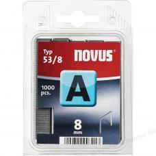 """Cinkotas sīkstiepļu skavas """"NOVUS"""" 8 mm - 53/8"""