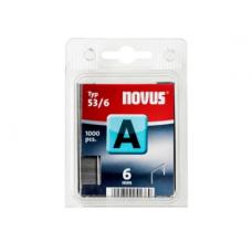 """Cinkotas sīkstiepļu skavas """"NOVUS"""" 6 mm - 53/6"""