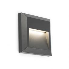 Āra gaismeklis GRANT-C LED 3W, IP65, tumši pelēks alumīnijs, FARO 70655