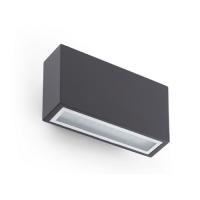 Āra gaismeklis TANE LED, 2x3W, IP44, tumši pelēks alumīnijs, FARO 72269