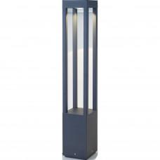 LED gaismas stabiņš AGRA LED, COB 10W modulis, 420Lm, 3000K, IP54, tumši pelēks/rūsas krāsā - FARO - 707xx