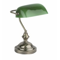 BANKER table lamp old gold + green - FARO - 68334