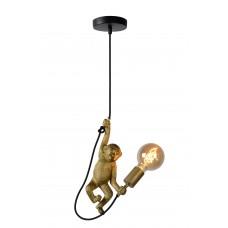 "Griestu lampa ""EXTRAVAGANZA CHIMP"", 1x E27 max. 60W, melna zelta - metāls, sintētisks materiāls - LUCIDE - 10402-01-30"