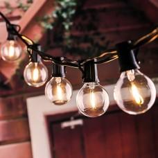 5.5m gaismu virtene + 10gab. E12 0.6W LED spuldzes + saules panelis IP44