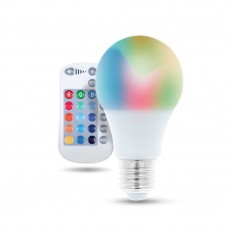 RGB+WW LED spuldze E27, A60, 720lm, 3+9W