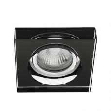 Iebūvējams gaismeklis MORTA B MR16/GU10 max. 50W, krāsainais metāls, stikls, melns