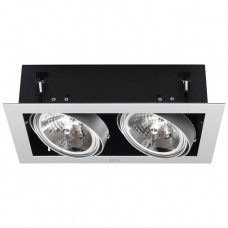 Recessed ceiling light MATEO AR111/G53 2 x max. 50W, alu