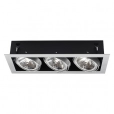 Recessed ceiling light MATEO AR111/G53 3 x max. 50W, alu