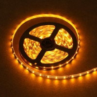 LED sloksne - lenta 3528 SMD 60diodes/m dzeltena krāsa YELLOW IP20