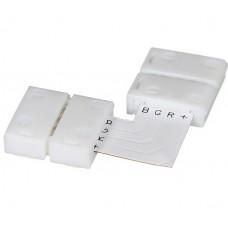LED sloksnes - lentes savienotājs 10mm sloksnēm 90° ar 4x kontaktiem - 5050SMD RGB - AC6621