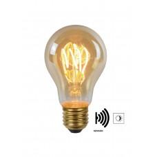 "4W, E27, LED Filament āra spuldze ""AMBER"", ar integrētu krēslas slēdzi, 230LM, 2200K, Lucide, 49042-04-62"