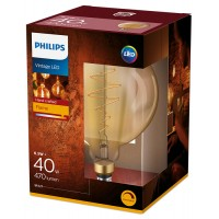 6.5W Retro Vintage G200 E27 Filament dimmējama LED spuldze, 470Lm, 2000K, Philips