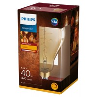 6.5W Retro Vintage A160 E27 Filament dimmējama LED spuldze, 470Lm, 2000K, Philips