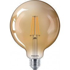 Dimmējama PHILIPS 8W Retro Vintage G120 E27 Filament LED spuldze, 630Lm, 2200K - 8718696814376