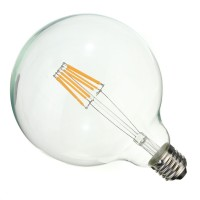 6.5W E27 G125 Optonica Filament LED bulb, 810Lm, 300°, 2200K - SP1860