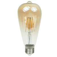 4W Retro Vintage ST64 E27 Optonica Filament LED spuldze, 400Lm, 300°, 2700K - SP1870