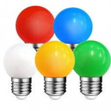 1W E27 G45 LED bulb, 20 lm, various colours - WOJ1179x