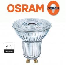Dimmējama 8W GU10 LED spuldze 827 (80W), 2700K, 575lm, 36°, 5 gadu garantija - OSRAM - 4058075095489