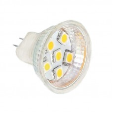 1.3W 12V MR11 LED spuldze ar 6x 5050SMD