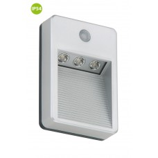 "Function outdoor light ""LERO"", 3 LED module, 0.36W, IP54, with motion detector - 2278-031"