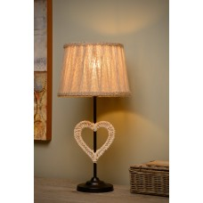 Galda lampa - SHIRLY - Ø 23,5 cm - 1x E27 - Melna - 47501-81-30