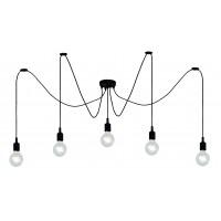 """Lampa """"FIX Multi"""", 5x E27 max. 60W, melna - silikons  - LUCIDE - 08408-05-30"""