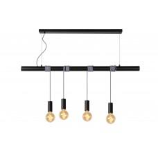 """Lampa """"JAIME"""", 4x E27 max. 60W, melna/balta - metāls/audums - LUCIDE - 08425-04-3x"""