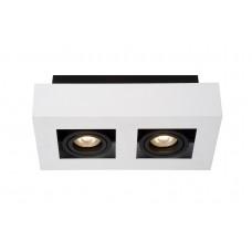 "Ceiling light ""XIRAX"", 2 x GU10, 5W LED, 640Lm, 3000K, - 09119/10/3x - Lucide"