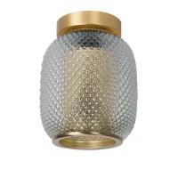 """Griestu lampa """"AGATHA"""", 1xE27, matēta zelta, misiņa, stikls, Lucide, 03133-01-02"""
