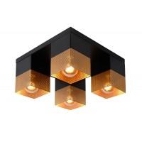 Virsapmetuma gaismeklis RENATE - 4x E27 - melns 21123/04/02