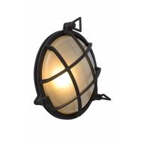 """Sienas āra gaismeklis """"DUDLEY"""", 1x E27, melna - alumīnijs, stikls, LUCIDE, 11890-25-30"""