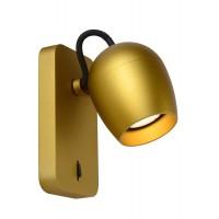 """Sienas spot gaismeklis """"PRESTON"""", 1xGU10, matēts zelts, alumīnijs, Lucide, 09927-05-02"""