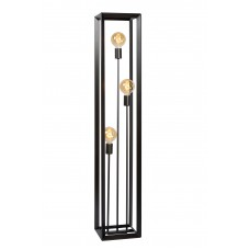 """Floor lamp """"THOR"""" 3 x E27 max. 60W, grey iron/natural iron - Lucide - 73702/03/x"""