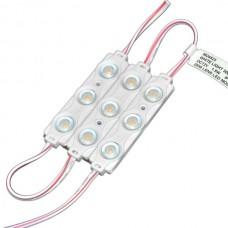 12V LED modulis ar lēcu, IP65, 160°, 1.5W, 120lm - MO452x