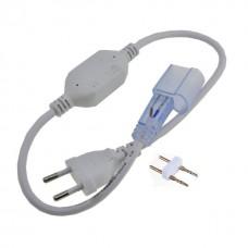 Komplekts LED Neona gaismekļu pieslēgšanai - kontakts, PIN savienojums, gala uzlika