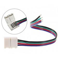 LED sloksnes - lentes savienotājs 10mm sloksnēm ar 4x kontaktiem - RGB - 5050SMD